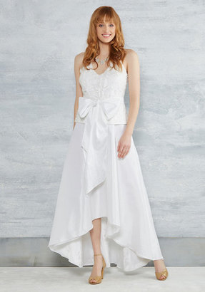 Marina City Hall Couture Maxi Dress in White $175 thestylecure.com