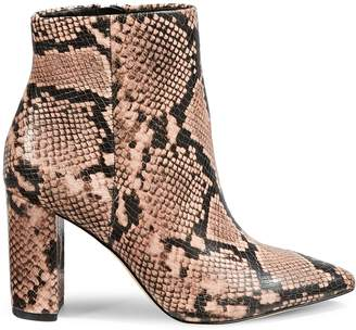 Call it SPRING Maydell Snakeskin-Embossed Booties