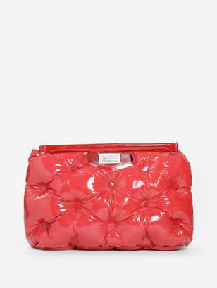 Maison Margiela WOMEN'S RED GLAM SLAM MEDIUM BAG IN PATENT LEATHER