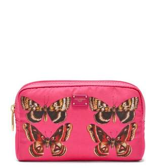 Dolce & Gabbana Butterfly Print Zip Around Cosmetics Bag - Womens - Pink Multi