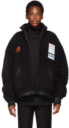ADER error Reversible Black Fleece Jacket