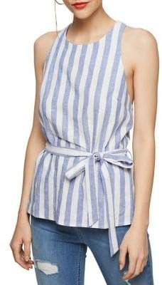 Miss Selfridge Sleeveless Striped Blouse