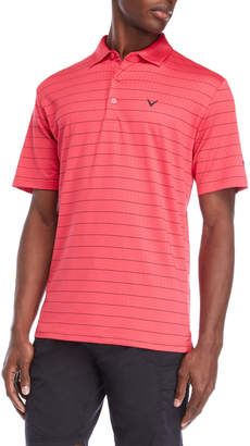 Callaway Stripe Perforated Essential Polo