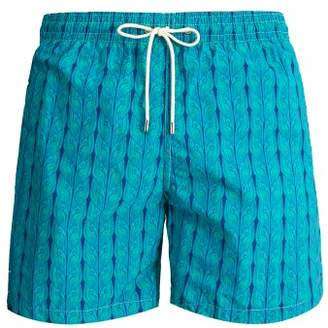Le Sirenuse, Positano - Plait Print Swim Short - Mens - Green