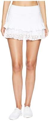 Kate Spade Athleisure Eyelet Ruffle Skirt Women's Skirt