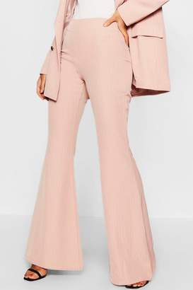 boohoo Pinstripe Flared Pants