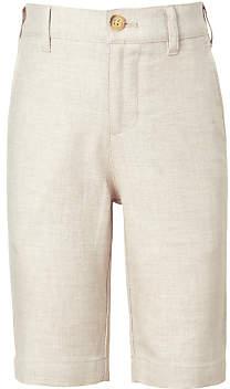 John Lewis Heirloom Collection Boys' Linen Suit Shorts, Beige