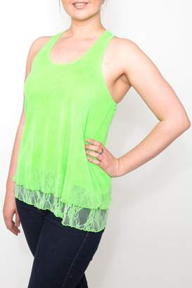 Freestyle Free Style Lime Ruffle Tank