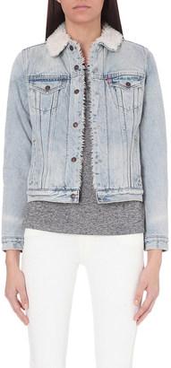 Levi's Boyfriend Sherpa Trucker denim jacket $116 thestylecure.com