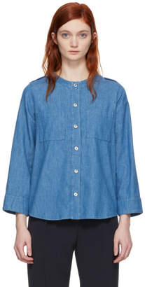 A.P.C. Indigo Lea Pocket Shirt