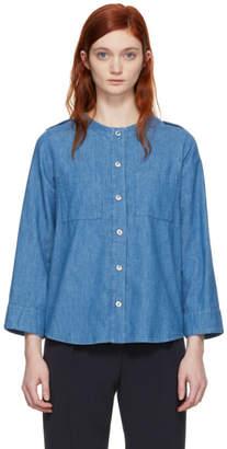 A.P.C. Indigo Lea Pocket Shirt