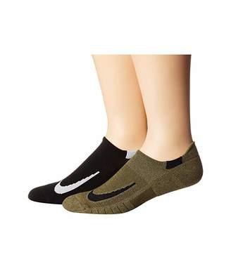 Nike Multiplier Running No Show Socks 2-Pair Pack