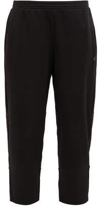 Calvin Klein Mesh Panel Cropped Track Pants - Womens - Black