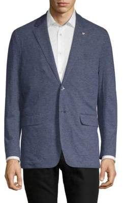 Canali Notch Lapel Jersey Jacket