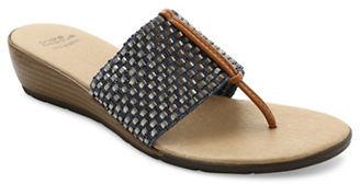 Andre Assous Nima Woven Demi-Wedge Sandals $99 thestylecure.com