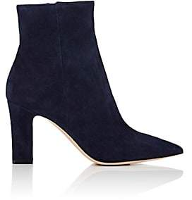 Gianvito Rossi Women's Pointed-Toe Suede Ankle Boots - Denim