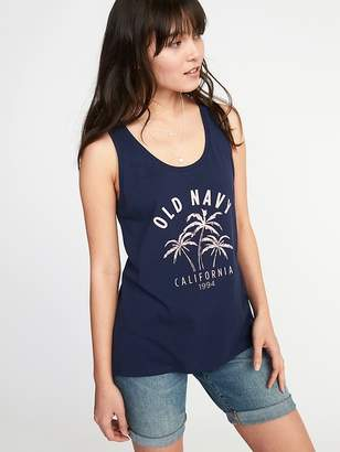 Old Navy EveryWear Logo-Graphic Scoop-Neck Tank for Women