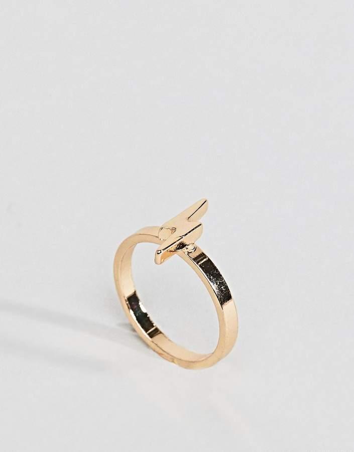 – Ring für den kleinen Finger mit Blitzdesign
