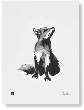 Teemu Jérvi Illustartion 50x70cm - Fox