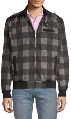 Members Only Checkered Bomber Jacket
