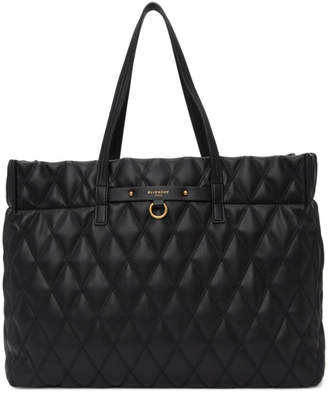 Givenchy Black Quilted Duo Tote