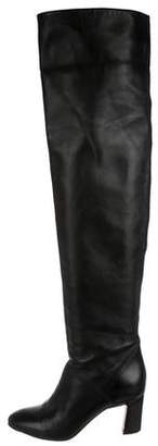 Brian Atwood Leather Over-The-Knee Boots