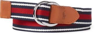 Ralph Lauren Striped Webbed Belt