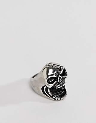 Seven London Silver Bottle Opener Skull Ring