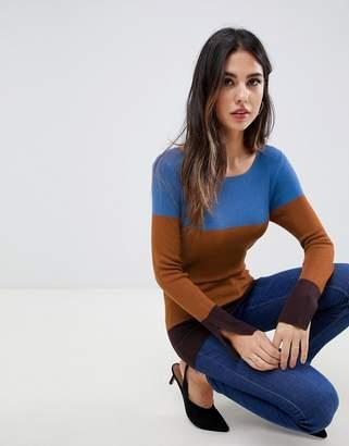Oasis lightweight color block sweater