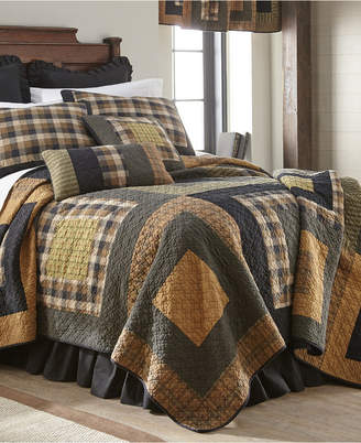 American Heritage Textiles Forest Square Cotton Quilt Collection, King Bedding