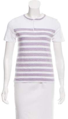 Vince Striped Button-Up T-Shirt w/ Tags