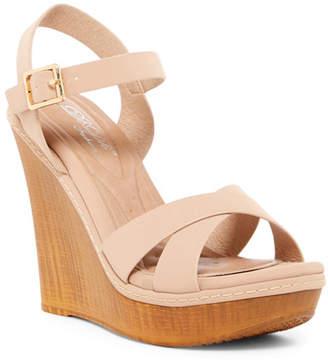 Elegant Footwear Hazzel Platform Wedge Sandal $72.90 thestylecure.com