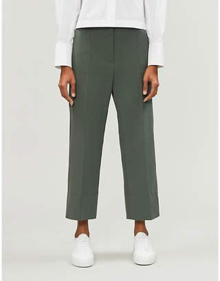 Sportmax Manuele elasticated-panel wide-leg woven trousers