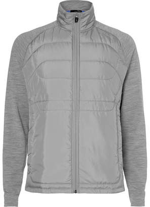 RLX Ralph Lauren Mélange Stretch-Wool Jersey And Quilted Shell Golf Jacket