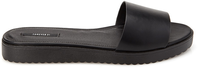 Forever 21 Faux Leather Slides