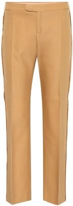 Chloé Wool-blend straight-leg trousers