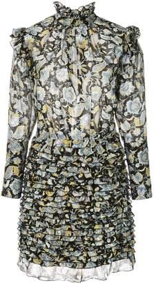 Robert Rodriguez Studio floral frill mini dress