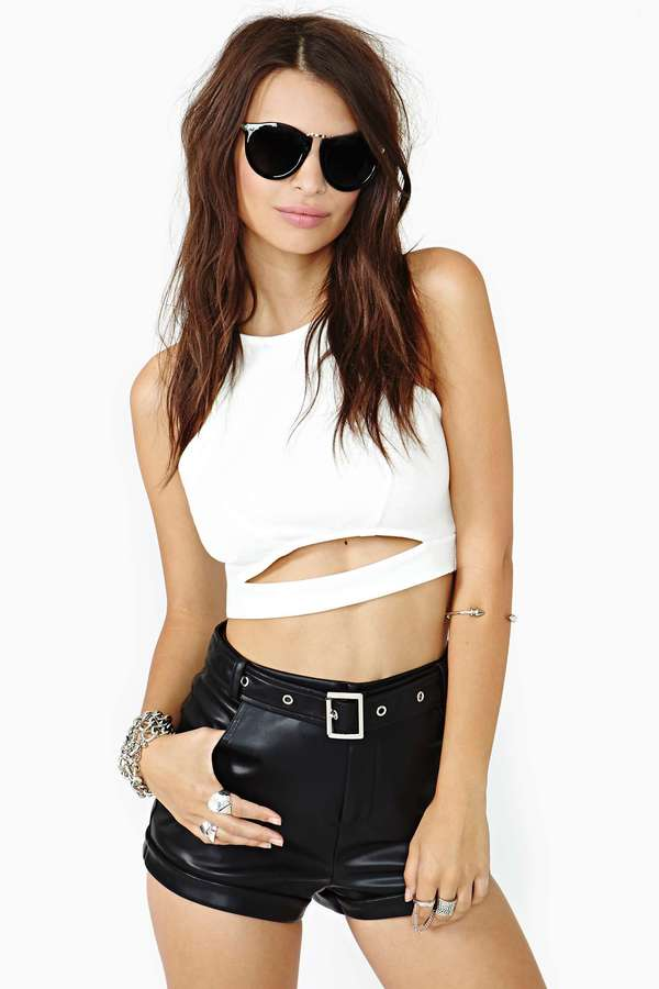 Nasty Gal Who's Bad Buckled Shorts