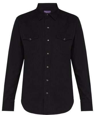 Ralph Lauren Purple Label Western Button Fastening Cotton Shirt - Mens - Black