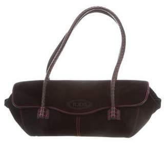 Tod's Suede Shoulder Bag Black Suede Shoulder Bag