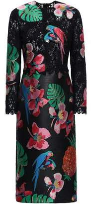 Valentino Lace Jacquard Dress