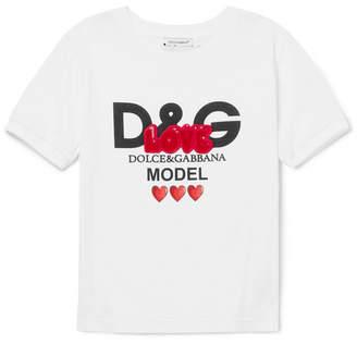 Dolce & Gabbana Ages 2 - 6 Appliquéd Printed Cotton-jersey T-shirt