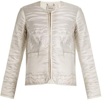 RACHEL COMEY Bedroom collarless Waves-quilted satin jacket $656 thestylecure.com