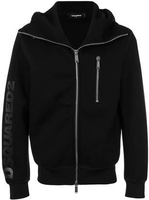 DSQUARED2 logo zipped hoodie