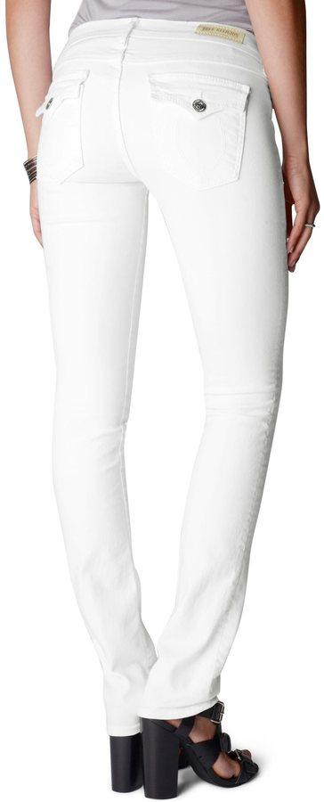 True Religion Cora Straight White Womens Jean