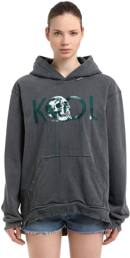 Sweatshirt Aus Baumwolle Mit Druck