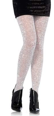Leg Avenue Women's Lurex Sparkly Shiny Glitter Footed Tights
