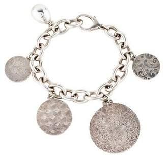 Monica Rich Kosann Sapphire Locket Charm Bracelet