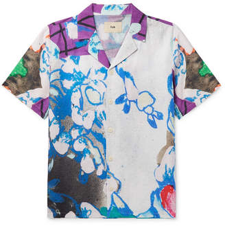 Folk + Alfie Kungu Camp-Collar Printed Cotton And Linen-Blend Shirt