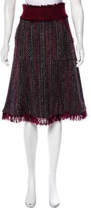 Tory Burch Wool-Blend Tweed Skirt